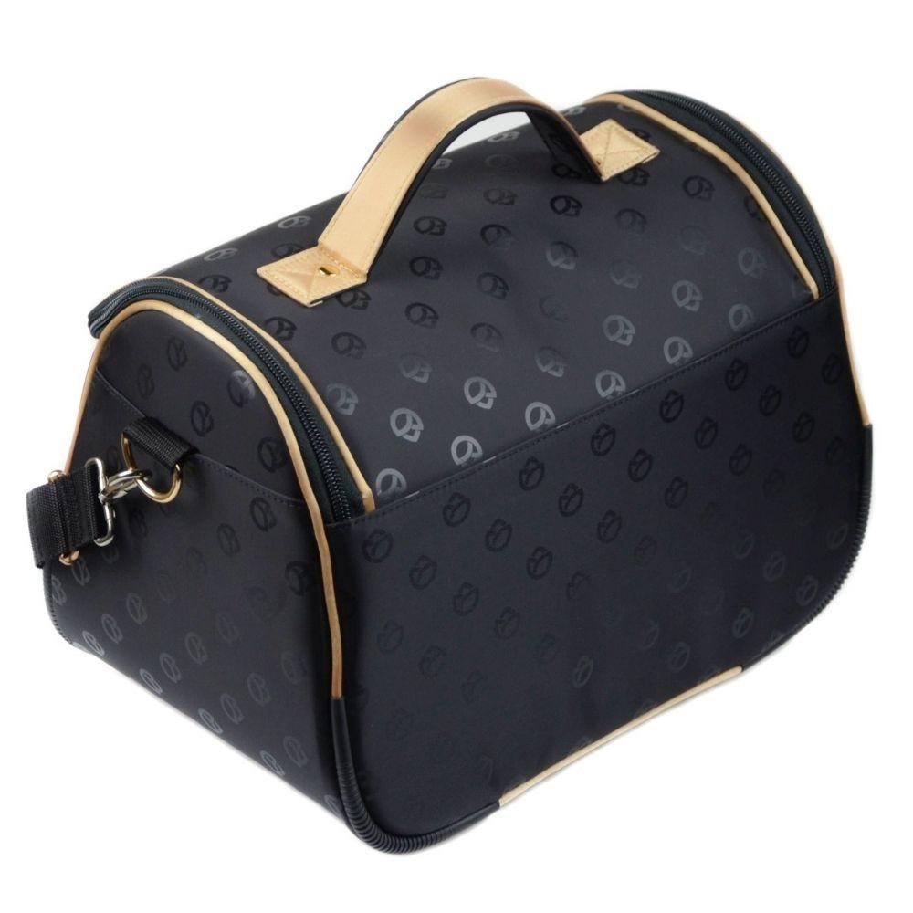 czarna duża kosmetyczka damska kufer XXL