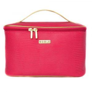 Kosmetyczka damska różowy kuferek na kosmetyki Noble