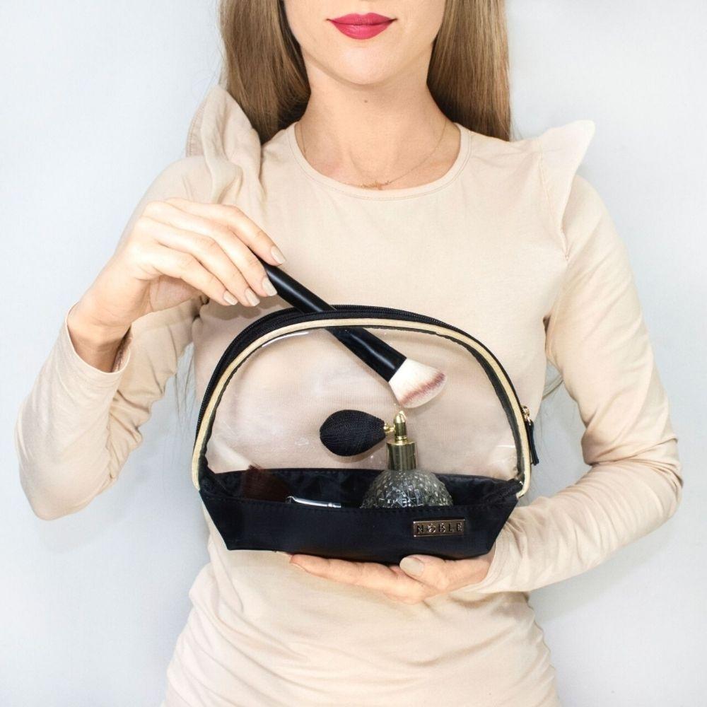 kosmetyczka przeźroczysta na kosmetyki do samolotu
