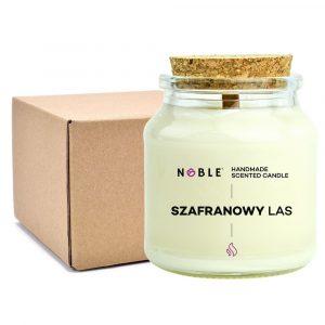 Świeca zapachowa sojowa z drewnianym knotem Noble