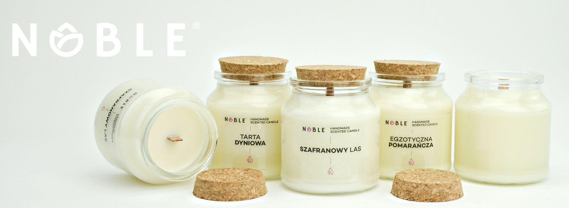 Naturalne Sojowe świece zapachowe Noble Candle