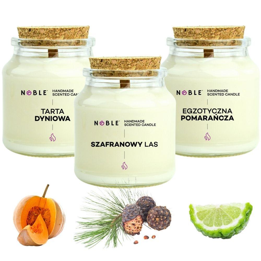 Duże świece zapachowe Noble