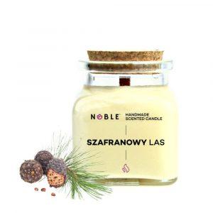 Sojowa świeca zapachowa Cedr Szafran Drzewo Sandałowe Noble